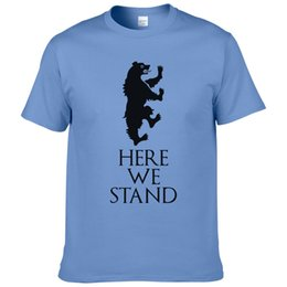 T Shirt Leopard Fashion Men Australia - Game Of Thrones T-shirt House Lannister Here We Stand Tees Shirts Fashion Casual Cotton T Shirt For Men Women Xs-2xl #257