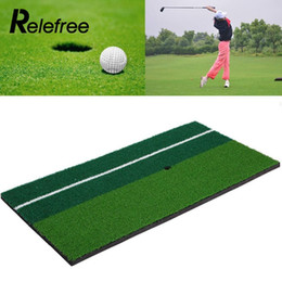 """mat practice 2019 - Relefree New Backyard Golf Mat 12""""x 24"""" Residential Training Hitting Pad Practice Rubber Tee Holder Grass Outd"""