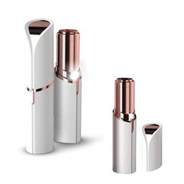 Chinese  Mini Electric Epilator For Female Lipstick Shape Shaving Shaver USB Portable Lady Hair Remover For Women Body Face LJJR1029 manufacturers