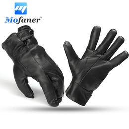 $enCountryForm.capitalKeyWord Australia - Mofaner Warm Men Black Winter Leather Driving Motorcycle Bike Soft Full Finger Winnter Gloves