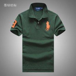 Ralph Polo Xxl Australia - Brand ralph polos lauren polo men tdesigner polos outdoor polo shirt casual cotton tshirt mens high quality polos various colors tee s-xxl