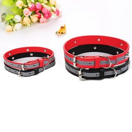 Chinese  Reflective Pu Pet Dog Collar Led Light Night Safety Glowing Pet Supplies Cat Dog Collar For Small Dogs Collars For Puppy manufacturers