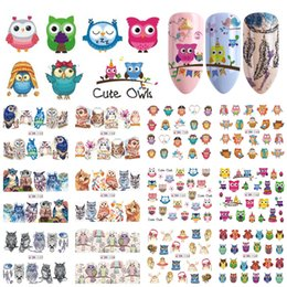 $enCountryForm.capitalKeyWord Australia - Cartoon Nail Sticker Cute Owl Animals Design Water Transfer Decals Lovely Wraps Decoration Tips Women Manicure SABN1153-1164