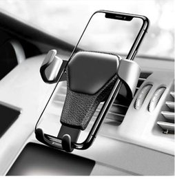 cell phone support for cars 2019 - Car Phone Holder For Phone In Car Air Vent Mount Stand No Magnetic Mobile Phone Holder Universal Gravity Smartphone Cell