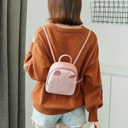 Phone Types Australia - Rabbit Hair Horn Shoulder Bag Mobile Phone Bag Purse Shell Type Messenger messenger for women 2018_11.28