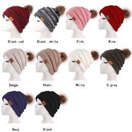 cowboy hair 2019 - Knitted Cap Autumn Winter Men Cotton Warm Hat Skullies Brand Heavy Hair Ball Twist Beanies Solid Color Hip-Hop Wool Hats