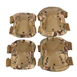 Discount hunting knee pads - US Army Tactical Paintball Hunting Protection War Game Knee Elbow Protector Support Combat Knee Scooter Kneepad