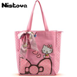 $enCountryForm.capitalKeyWord Australia - Women Casual Tote Designer Lady Large Cute Hello Kitty Handbags Bolsas Multi-purpose Shopping Bag Kids Lunch Bags With Bowknot Y190620