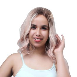 $enCountryForm.capitalKeyWord Australia - Human Hair #4 Pink Color lace front wig bob style, 12 inch short human hair lace front wig pink blonde ombre colour wavy