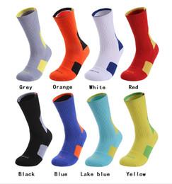 Family Socks NZ - Men Towel Bottom Basketball Training Socks Breathable Anti-slip Soccer Riding Fitness knee-high Male Sports Socks