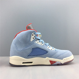 Wholesale 2019 New Release Trophy Room x Air JSP Ice Blue Man Basketball Shoes Retro Sail Metallic Gold University Red Mens Sports Sneakers With Box