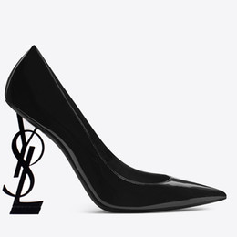 Black Evening Dresses For Ladies Australia - 2019 Designer Black High Heels Leather Shoes Women Pointed Toe Wedding Party Dresses Shoes Sexy Ladies Fashion Black Pumps For Prom Evening