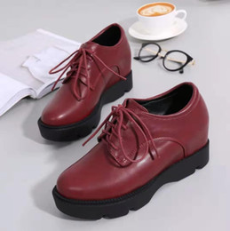 $enCountryForm.capitalKeyWord NZ - Thick-bottomed sponge cake women's shoes small size US2-12 increased small leather shoes wine red party dress shoes 2019 new daily free ship