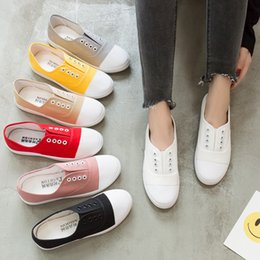 $enCountryForm.capitalKeyWord Canada - 2019 Fashion New Low Canvas Student Flat Casual Shoes A Pedal Lazy Shoes White Shoes