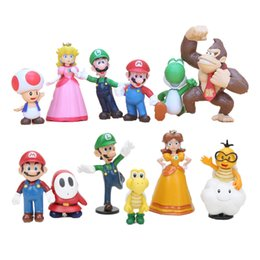 $enCountryForm.capitalKeyWord Australia - Toys Hobbies Action Toy Figures Super Mario Bros mario figure Luigi mushroom Goomba Toad Yoshi PVC Action Figures Toy children gift
