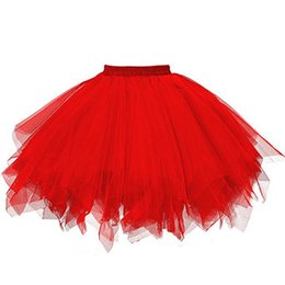 girls spring fairy UK - New Womens Rainbow Tulle Skirt Fashion Puffy Ladies Girls Party Skirts Lace Princess Fairy Voile Tulle Skirts Saia Feminina 06