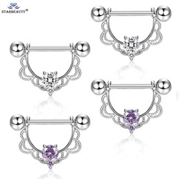 Earring tonguEs online shopping - Gem Nipple Ring Earring Steel Barbell Body Piercing Jewelry Percing Tongue Ring Studs Barbell Bars Ring
