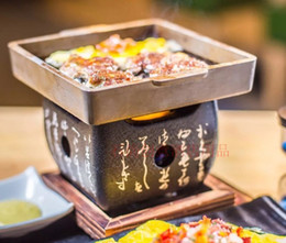 $enCountryForm.capitalKeyWord NZ - Mini square rock barbecue pan Japanese text barbecue oven Teppanyaki steak plate high temperature stone plate barbecue BBQ grill 073