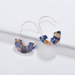 $enCountryForm.capitalKeyWord Australia - 2019 Bohemia Kendra Style Earrings Leopard Pattern Acrylic Acetate U Shape Chandelier Charms Earrings Jewelry Gift