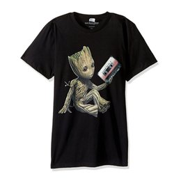 Wholesale man cosplay white online – ideas Mens T shirt I am Groot Summer T shirt Printed Cosplay Costume Short Sleeve Top Quality Simple Men Sweatshirt Superhero