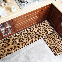 $enCountryForm.capitalKeyWord Australia - Simulated Animal Skin Pattern Anti-Slip Kitchen Mat Tiger Leopard Long Bath Carpet Entrance Doormat Tapete Bedroom Floor Mats