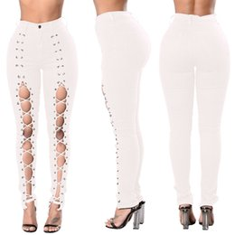 Scratch Resistant Coating Australia - Wholesale Women White jeans High Strength Water washed skinny jeans Ladies fashion New Style Leisure Bottom Jeans 193#