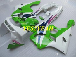 kawasaki zx6r 95 96 97 UK - Fairing body kit for KAWASAKI Ninja ZX6R 636 94 95 96 97 ZX 6R 1994 1997 ABS Green white Fairings bodywork+Gifts KS11