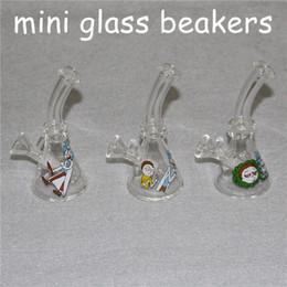 "$enCountryForm.capitalKeyWord Australia - mini beaker base water pipes hot selling glass bongs ice catcher thickness glass for smoking 4.7"" mini glass bongs"