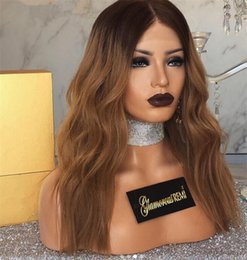 black honey blonde ombre 2019 - 150 Density Brazilian Ombre Honey Blonde Color 1B 27 Thick Glueless Full Lace Human Hair Wigs Straight Lace Front Wig Fo