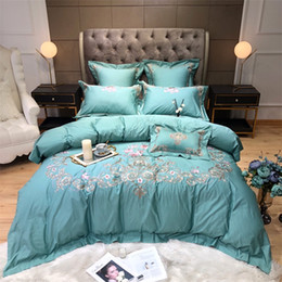$enCountryForm.capitalKeyWord Australia - 80SEgyptian Cotton Embroidered Luxury Royal Bedding Set King Queen Size Duvet Cover Bed Sheet set Decorative Pillowcases