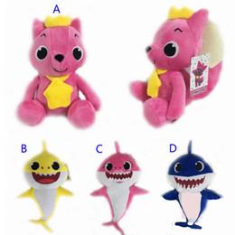 Baby Figures Australia - 2019 NEW 4Style 26cm~32cm baby shark Stuffed plush dolls 2018 New Cartoon sharks Action Figure Toys Kids Christmas Party Best Gifts C