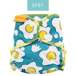 organic cloth diapers UK - Happy Flute Organic Cotton Newborn Diapers Tiny AIO Cloth Diaper,Waterproof PUL Fit 3-6KG Baby