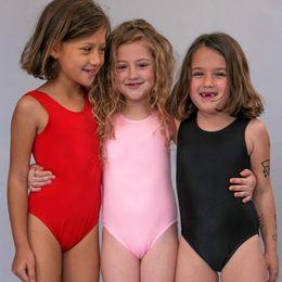 ec373deb5a Cute Girls Swimwear One Piece Swimsuit Black Red Pink Kids Beachwear Summer Bathing  Suit Children Swim Suit mayo badpak 2019
