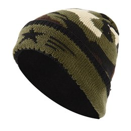 c24ac50f2cf72 Unisex Knitted Hat Women Man Winter Warm Casual Acrylic Slouchy Hat Ski Beanie  Male Female Camouflage Soft Baggy Beanies