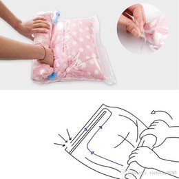 $enCountryForm.capitalKeyWord Australia - 40*50cm Hand Roll Transparent Storage Stuff Bag Vacuum Compressed Bags Foldable Clothing Vacuum Save Space Travel Pouch Seal Package