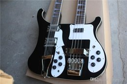 12 String Electric Double Neck Guitar Australia - Custom shop 12 + 4 string black double-necked electric guitar with rosewood fingerboard, white binding, custom service. The real picture is