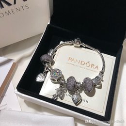 Pandora designer de luxo jóias mulheres pulseiras charme pulseira bracelete de aço inoxidável bracciali presente das senhoras bracciale donna caixa original venda por atacado