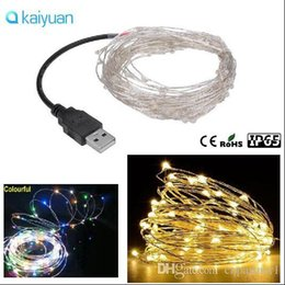 Usb Powered Christmas Lights Australia - led string lights 5m   10M 33ft 100led 5V USB powered outdoor Warm white RGB copper wire christmas  xmas festival wedding party decoration