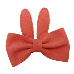 China hairband Women hair accessories Cute Baby Girls Rabbit Ears Bow Hairpin Hair Head funny Hairband cute Korean accessories3L3 cheap korean head accessories suppliers