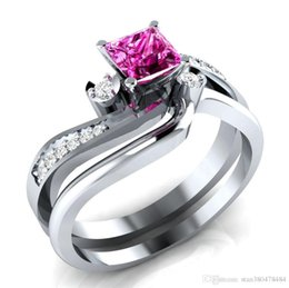 America Brass Australia - Hot-selling silver-plated jewelry in Europe and America Explosion-style fashion women's zircon ring silver-plated couple ring party wed