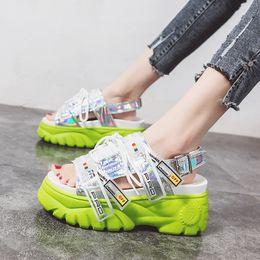 $enCountryForm.capitalKeyWord Australia - Rimocy Chunky Platform Wedge Women Sandals Summer Beach Open Toe Woman Sandalias Breathable Thick Sole Mujer Casual Footwear Y19070503