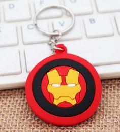 Batman Figure Wholesale Australia - Car key chain captain America thor hammer key chain batman key chain