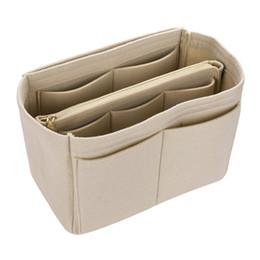 Vendita calda Sacchetto di Trucco Casi Cosmetici Feltro Bag Organizer Inserire Sacchetti Cosmetici Custodia Da Viaggio Viaggi Da Toeletta Borse Organizer # 29929 in Offerta
