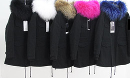 Wholesale Long Parka Canada - Cheap Price Women Midi Long Cashmere Liner Parkas green jackets with Hooded Raccoon fur collar Canada UK USA