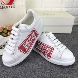 Red canvas shoes foR kids online shopping - High Quality Mcqueen High Version d Printing Casual Couple Small White Shoes Autumn And Winter Red Bottoms Shoes For Kids