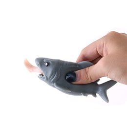Gags & Practical Jokes 12cm Funny Toy Shark Squeeze Stress Ball Alternative Humorous Light Hearted New Jouet Enfant Drop Shipping Novelty & Gag Toys