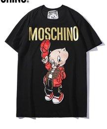 $enCountryForm.capitalKeyWord Australia - 2019 new Italia brand mens designer t shirts embroidery hot stamping letter red cartoon pig fashion women short sleeve T-shirt