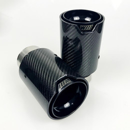 $enCountryForm.capitalKeyWord NZ - Free shipping 1pcs Universal M LOGO Carbon Fiber Exhaust tips For M Performance exhaust pipe For BMW Exhaust tips Glossy Carbon