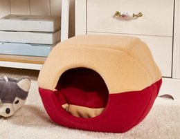 dog houses kennels accessories UK - Dog beds houses pet beds home pet supplies kennel detachable and washable summer pet yurt cat house bed accessories