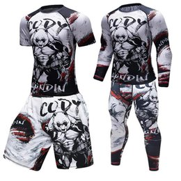 Fighting Australia - Brand New Men Gym Suits Fighting panda Sportswear Compression Suits Running Set Fitness Tight Sport Suit Men Outdoor Jogging set